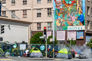 photo - Homeless Tents on City Streets In San Francisco