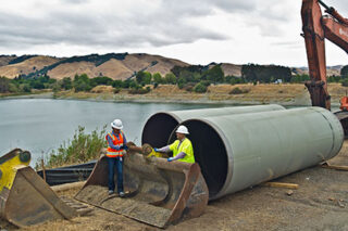 photo - Installation of a New Diversion Pipeline, Pixel CA DWR