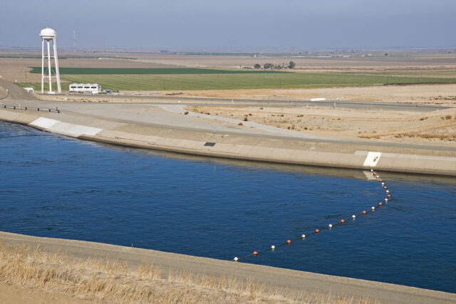 photo - Irrigation Canal and Agricultural Land
