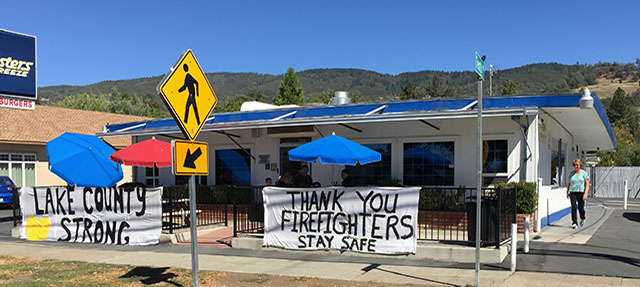 photo - Lake County Support for Firefighters after Valley Fire