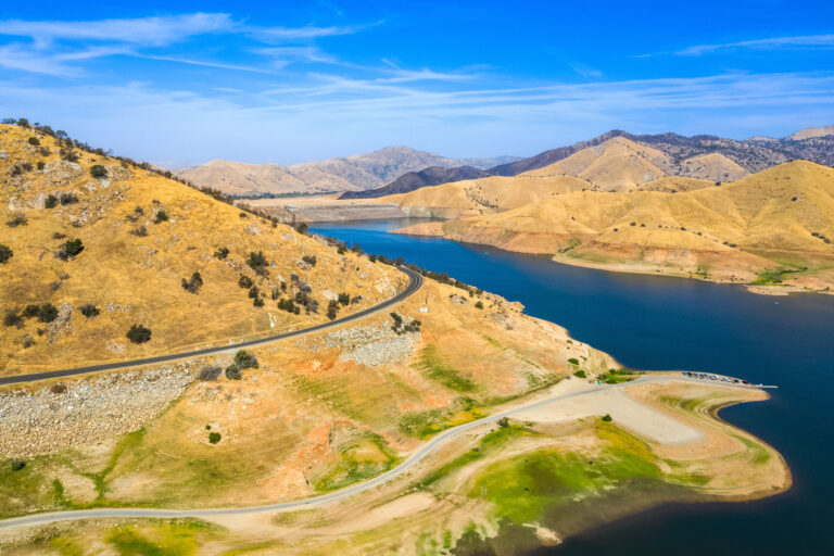 Lake Kaweah California With Drought Conditions