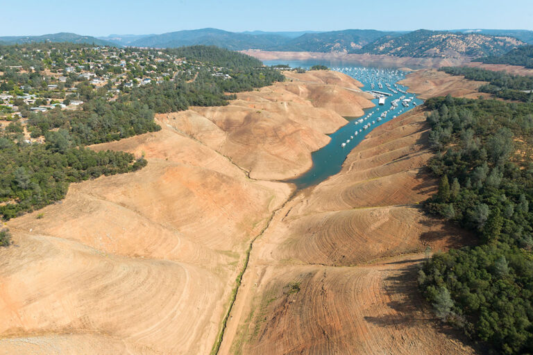 photo - Lake Oroville California during Drought