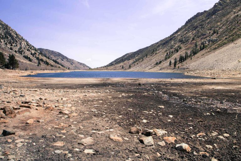 photo - Lake with Very Low Water from Years of Drought in California