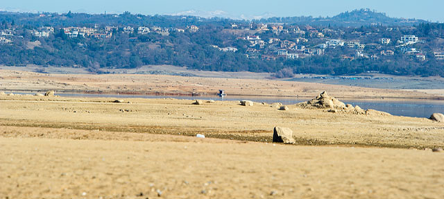 photo - Low Water Drought Conditions at Folsom Lake, California