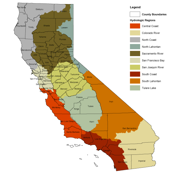 California Hydrologic Regions and Counties - Public Policy Institute ...