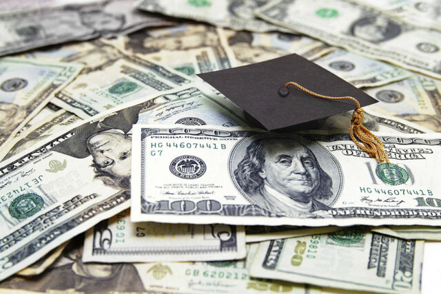 photo - money and mortarboard