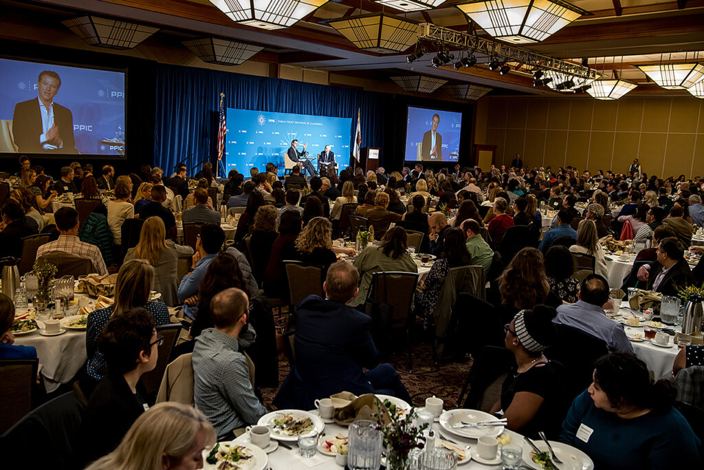 Photo of the audience at Governor Newsom event
