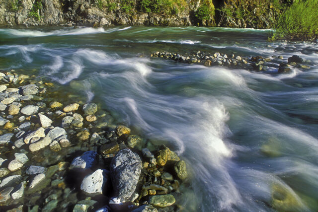 photo - Nordheimer Creek and Salmon River Confluence in Northern California