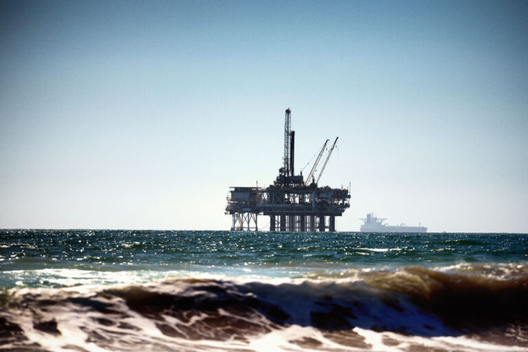 photo - Offshore Drilling Rig Near Huntington Beach, California