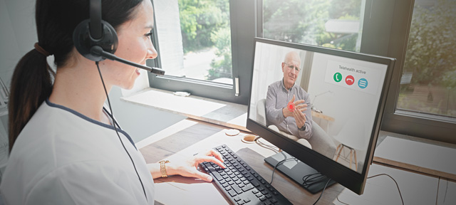 Photo of a patient receiving a doctor consultation online