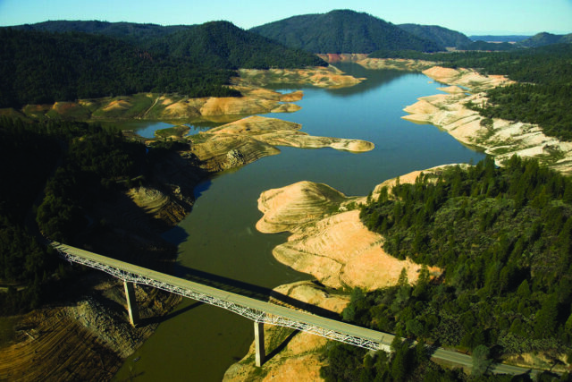 photo - Oroville River during Drought