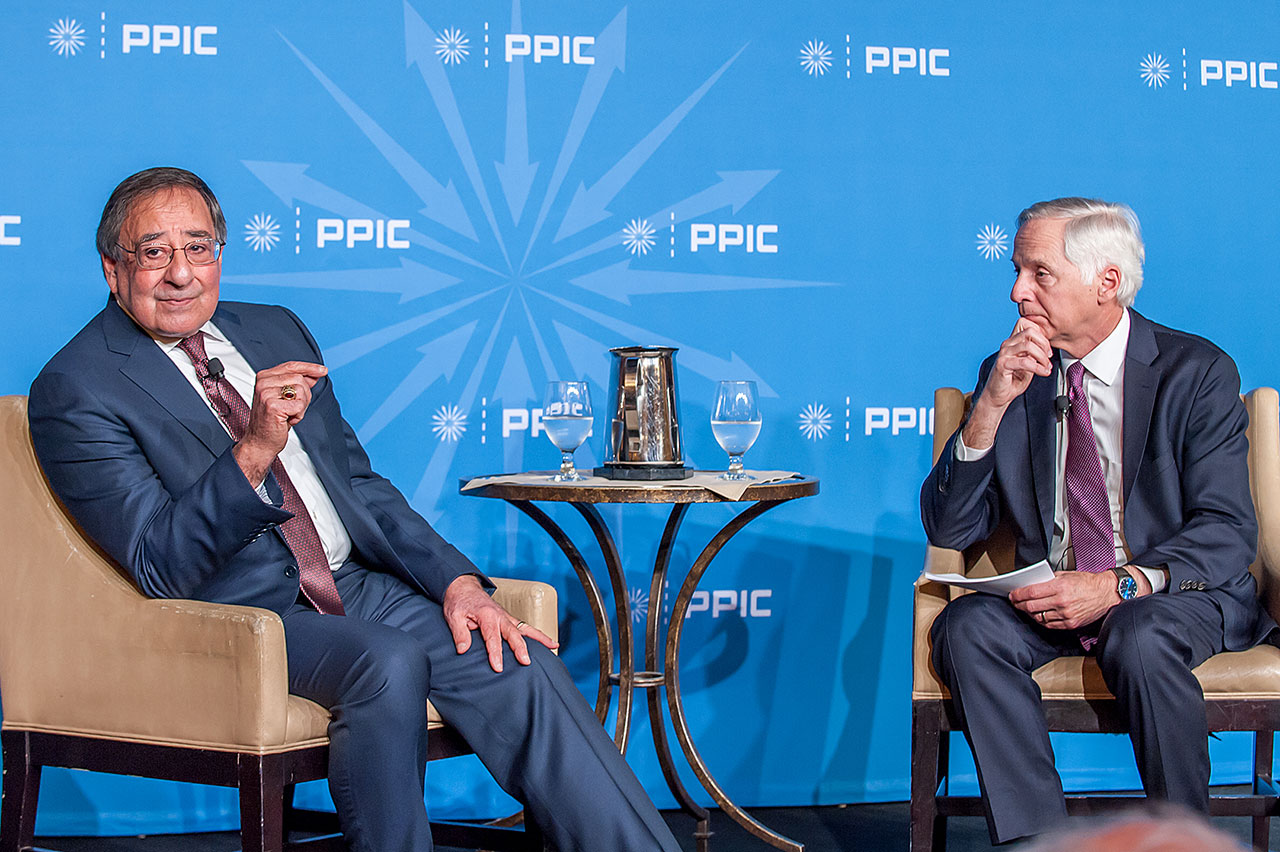 Photo of Leon Panetta and Mark Baldassare