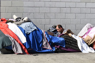 photo - Man Living on the Street in Los Angeles