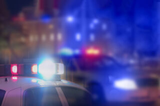 Photo - Police Cars at Night