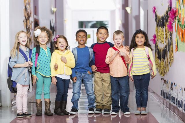 photo - Preschool Children in Hallway