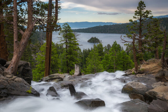 photo - Eagle Falls and view of Emerald Bay, Lake Tahoe, California