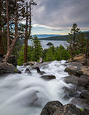 photo-Eagle Falls and view of Emerald Bay, Lake Tahoe, California
