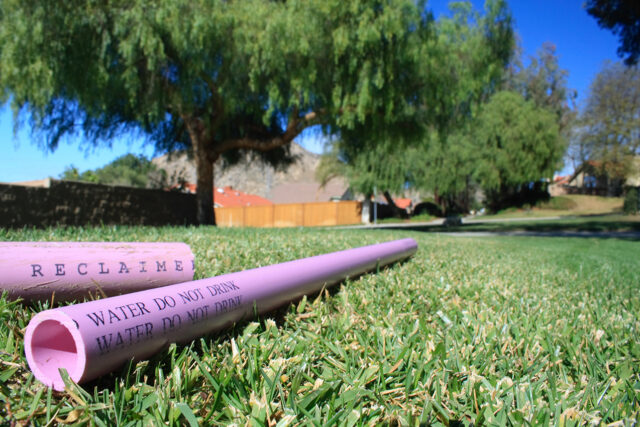 photo - Recycled Water Pipe on Grass