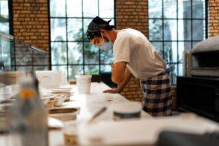photo - Restaurant Worker Wearing Mask