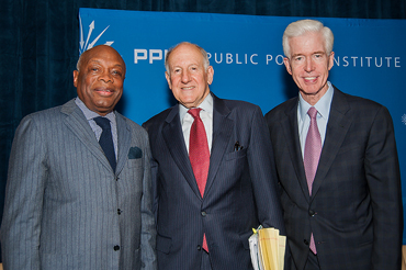 Willie Brown, Ronald George, and Gray Davis