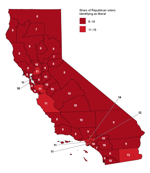Californias Political Geography Public Policy Institute Of - Map of most democratic counties in us