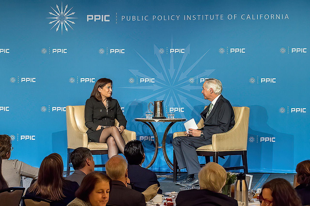 Photo of Tani Cantil-Sakauye and Mark Baldassare