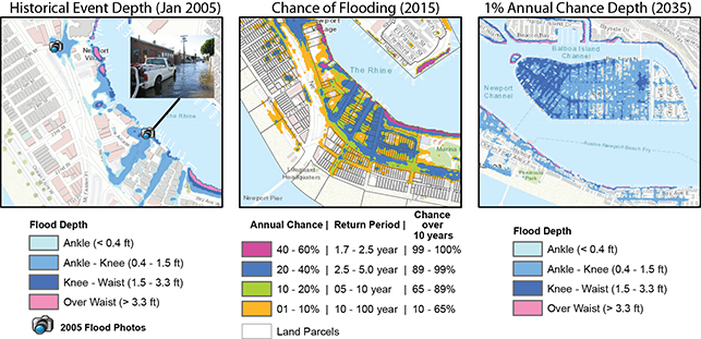 maps - A Sample Visualization of Flood Hazards - Credit: Brett Sanders/UCI