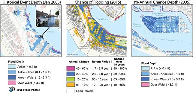 maps - A Sample Visualization of Flood Hazards - Credit: Brett Sanders/UCI
