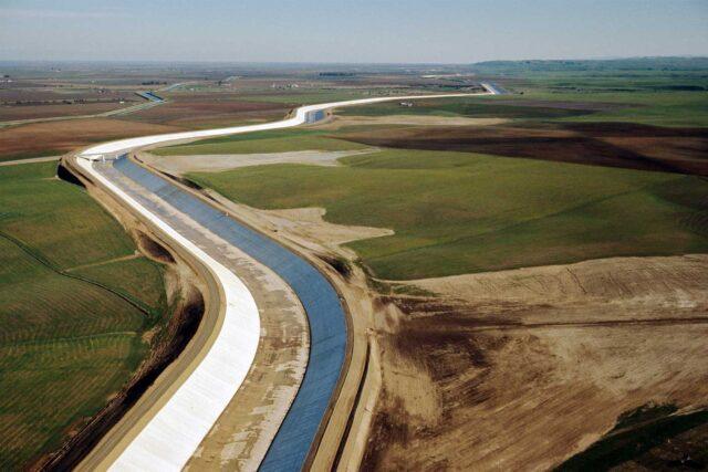 photo - San Luis Canal California Aqueduct in Merced County, California Pixel Ca Dwr