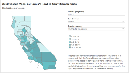 Image of Interactive: 2020 Census Maps: California's Hard-to-Count Communities