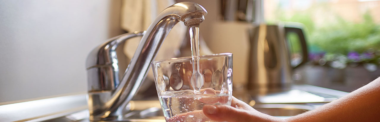photo - Filing Glass with Water from Kitchen Tap