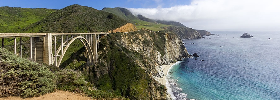 photo - Bixby Bridge on the California Coastline