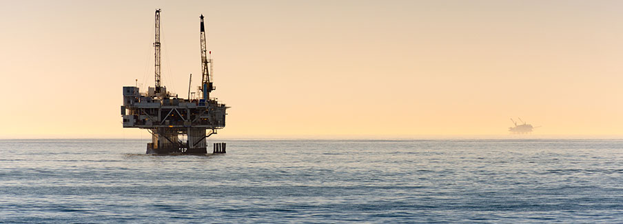 photo - Off Shore Oil Rig Drilling Off Coast Of Southern California
