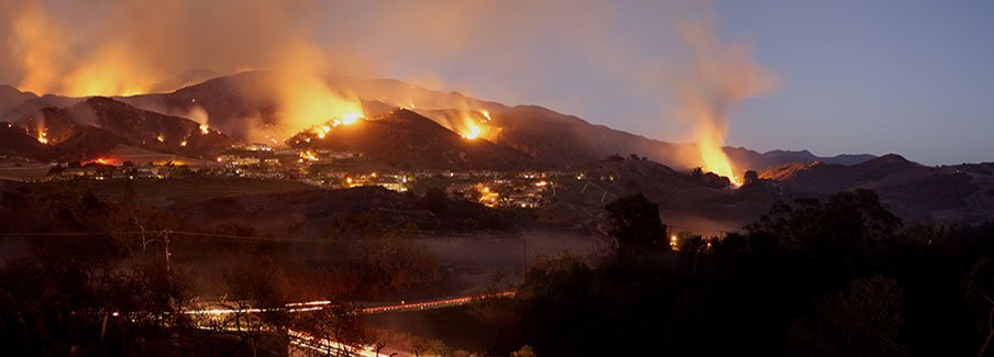 photo - hillside fire