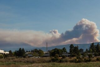 photo - Smoke Clouds from Wildfire in Mountain View, California