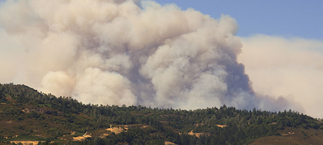 photo - Smoke from Butts Fire in Napa Valley, California