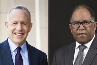 Photo of Darrell Steinberg and Mark Ridley-Thomas