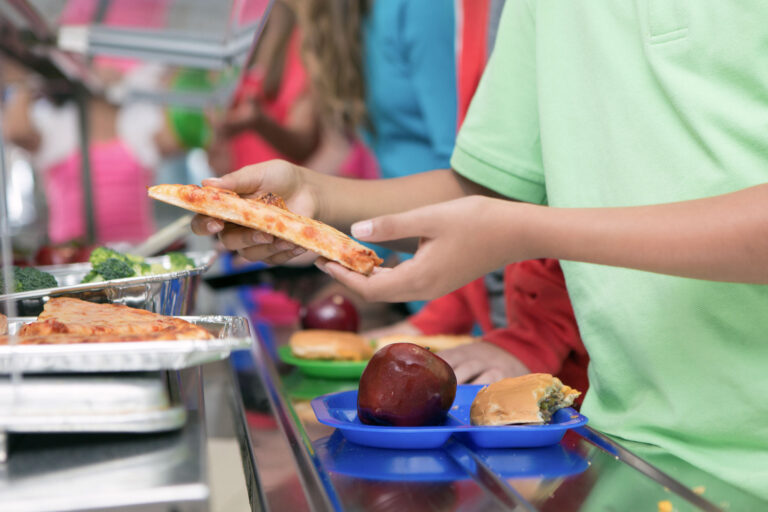photo - Student In School Cafeteria Line for Lunch