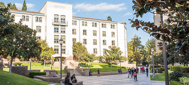 photo - Students and Residential Halls on UCLA Campus
