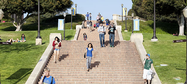 photo - Students Walking Down the Stairs on UCLA Campus
