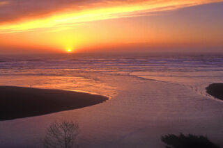 photo - Sunset at the Mouth of Mad River Humboldt County, California