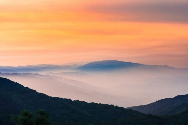photo - Sunset Views in Santa Cruz Mountains in California