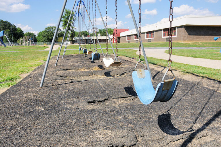 photo - Swing Set on Public Elementary School Playground