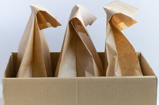 photo - Lunch Bags in Cardboard Box