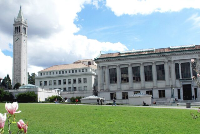 photo - Doe Library and Campanile on UC Berkeley Campus