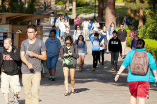 photo - UCLA students on campus