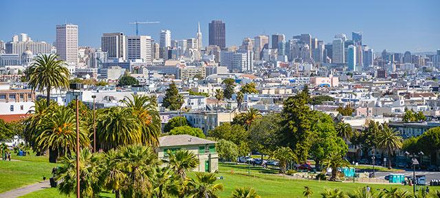 Urban Drought SF Bay Area City Shot