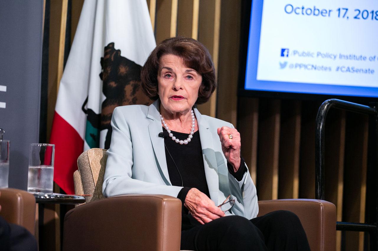 Photo of US Senator Dianne Feinstein