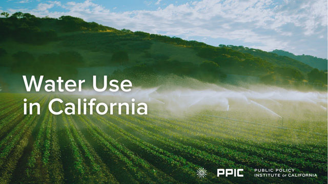 video image - Water Use in California