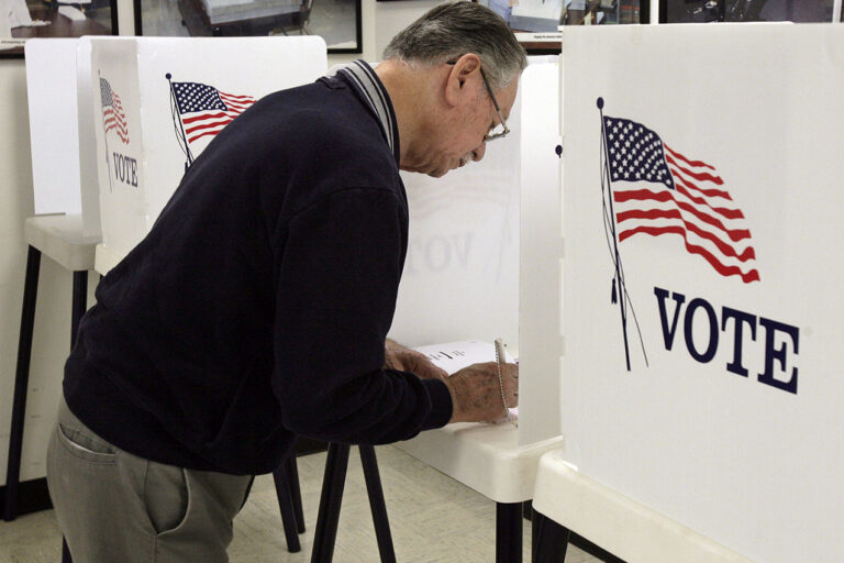 photo - voter at booth